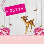 Julie | Hout, hertje en label