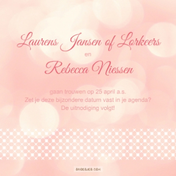 Laurens & Rebecca | save the date