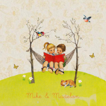 Mike & Madelon | tweeling in hangmat