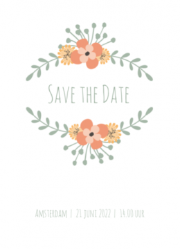 Save-the-date kaart | Dave & Esmée