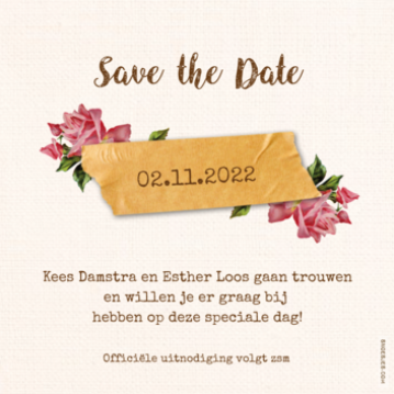 Save-the-date kaart | Kees & Esther