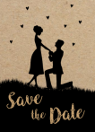 Save-the-date kaart | Sacha & Mike