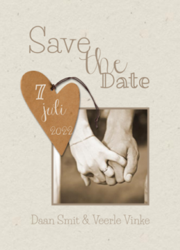 Save-the-date kaart | Daan & Veerle