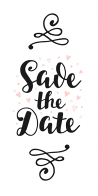 Save the date kaart | handlettering