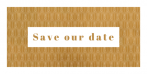 Save the date kaart in Roaring Twenties stijl